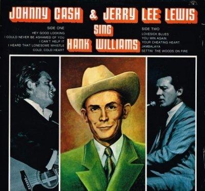 Johnny Cash & Jerry Lee Lewis - Johnny Cash & Jerry Lee Lewis Sing Hank Williams (LP)