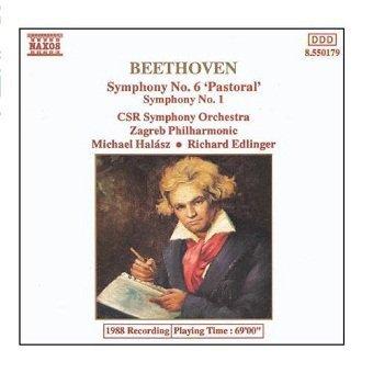 Beethoven, CSR Symphony Orchestra, Zagreb Philharmonic, Michael Halász, Richard Edlinger - Symphony No. 6 'Pastoral' - Symphony No. 1 (CD)