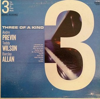 André Previn, Teddy Wilson, Barclay Allen - Three of a Kind (LP)
