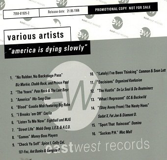America Is Dying Slowly (CD)
