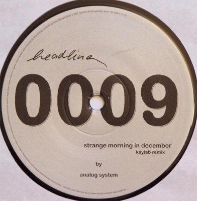 Analog System - Strange Morning In December (12'')