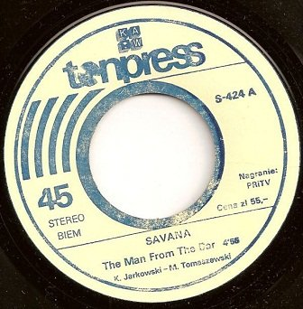 Savana - The Man From The Bar / Girl Of My Dreams (7'')