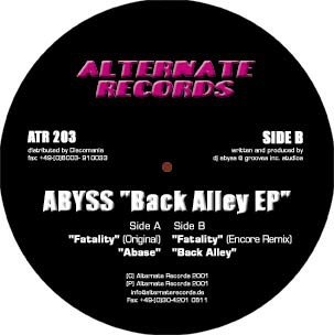 Abyss - Back Alley EP (12'')
