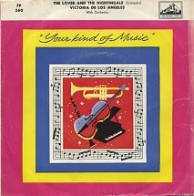"""Victoria De Los Angeles And The Philharmonia Orch. - The Lover And The Nightingale (7"""")"""