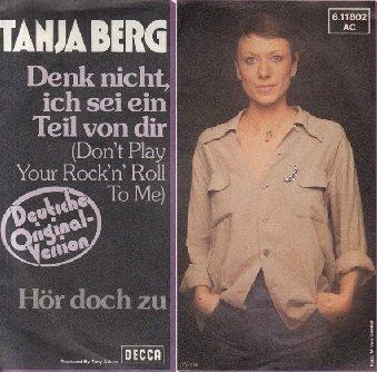 """Tanja Berg - Denk Nicht, Ich Sei Ein Teil Von Dir (7"""")"""