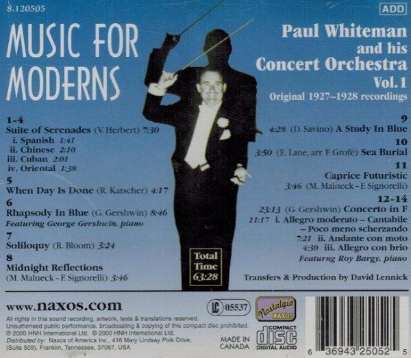 Paul Whiteman - Music For Moderns (CD)