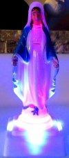 MATKA BOŻA Niepokalana LED ŚWIECĄCA Zmienia Kolor
