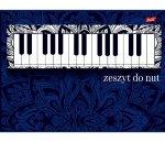 DUŻY ZESZYT DO NUT Pianino A4 16 Kartkowy
