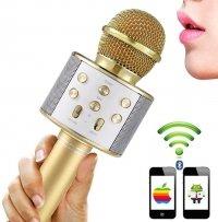 Mikrofon KARAOKE Głośnik Bluetooth GOLD Android IOS