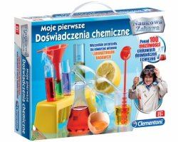 DOŚWIADCZENIA CHEMICZNE Mały CHEMIK Clementoni CHEMIA