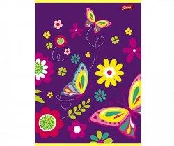Zeszyt 16 Kartkowy w KRATKĘ Kwiatki Motylki