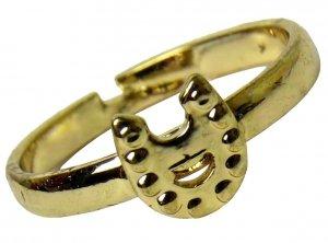 PODKOWA Śliczny PIERŚCIONEK GOLD Biżuteria dla Dziewczynki