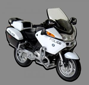 Motor BMW R 1200 RT MOTOCYKL Police Welly 1:18 ŚCIGACZ