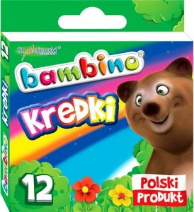Bambino KREDKI Świecowe 12 Kol SZKOLNE Woskowe