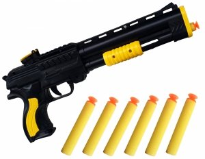 Pistolet na STRZAŁKI 6 szt Miękkie Przyssawki KARABIN