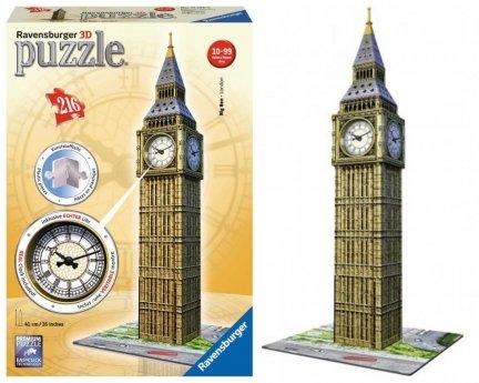 Big Ben z ZEGAREM Puzzle 3D 216 el LONDYN NEW