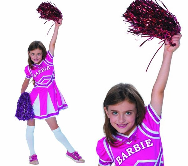 Barbie CHEERLEADERKA Czirliderka Strój na Bal 152