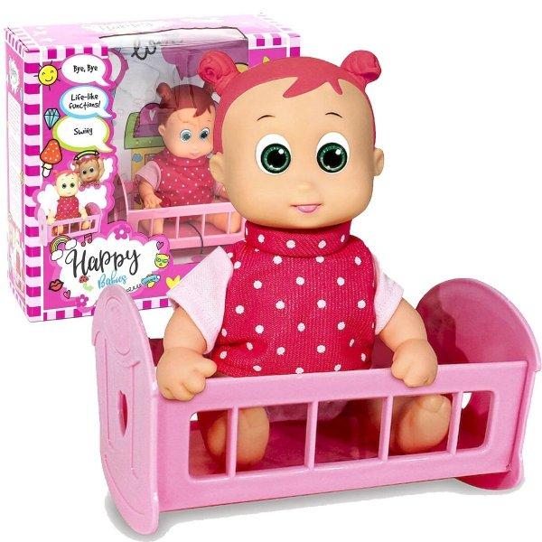 Smily Play HAPPY Babies Lalka z Kołyską Bobas BD107