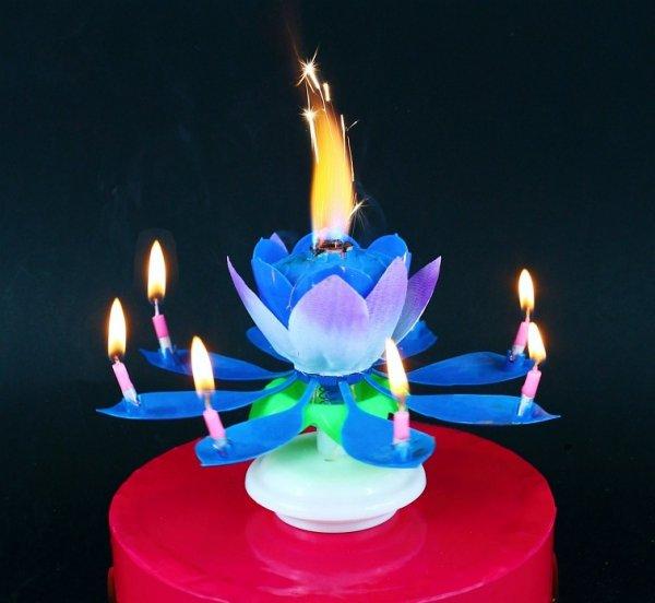 ŚWIECZKA Urodzinowa Grająco Tańcząca KWIAT Tort
