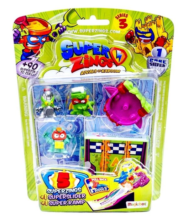 Super ZINGS 3 Blister 5 Figurek POJAZD SUPERZINGS