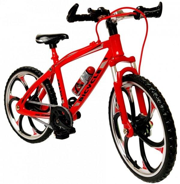 Rower SPORTOWY METALOWY Model 1:10 GÓRSKI Czerwony