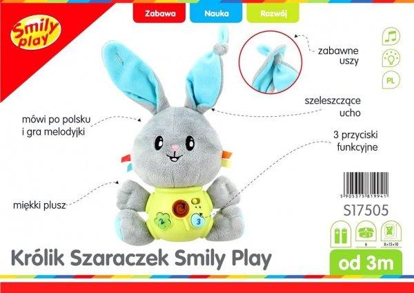 Króliczek SZARACZEK Przytulaczek Smily Play S17505