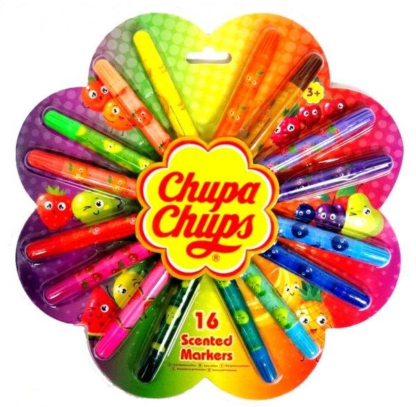 Chupa Chups MAZAKI PACHNĄCE FLAMASTRY 16 Kolorów