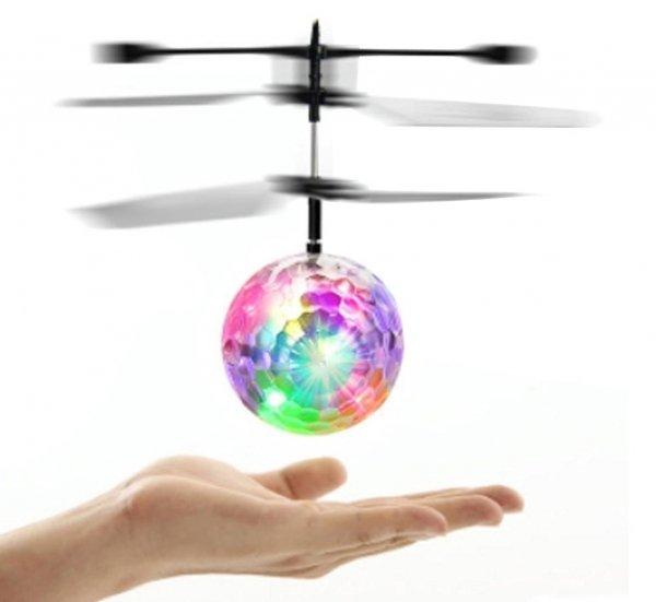 LATAJĄCA KULA Świecąca LED Sterowana RĘKĄ Helikopter