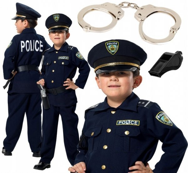 POLICJANT Amerykański USA 6w1 Strój KARNAWAŁOWY 152