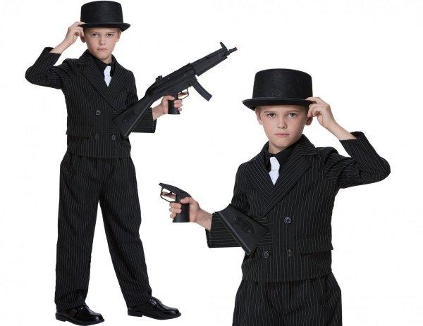 GANGSTER Al Capone GANGUŚ Strój KARNAWAŁOWY 116