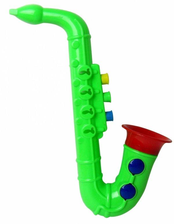 INSTRUMENTY 3w1 Cymbałki Saksofon Tamburyn