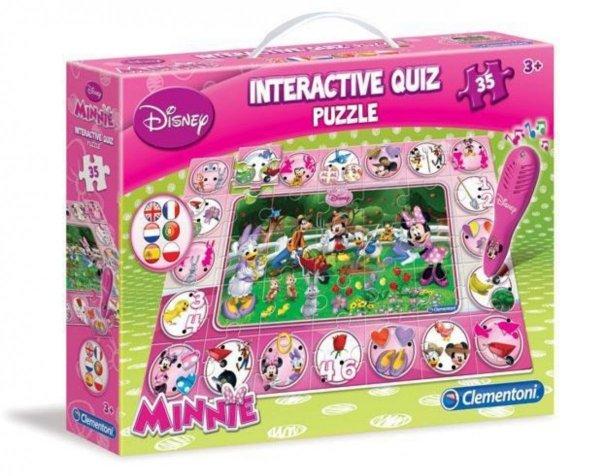 Myszka Minnie Quiz PUZZLE Interaktywne Clementoni