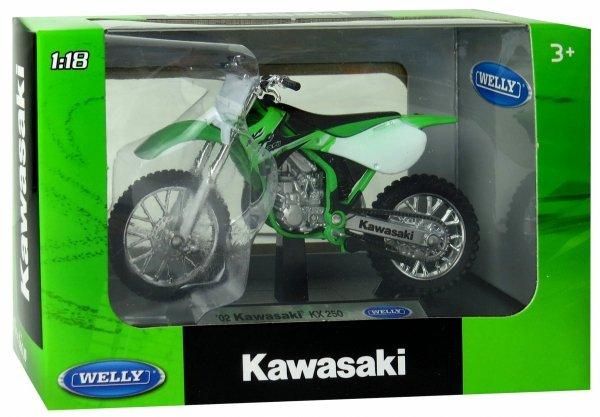 MOTOR 02 KAWASAKI KX 250 MOTOCYKL Welly 1:18