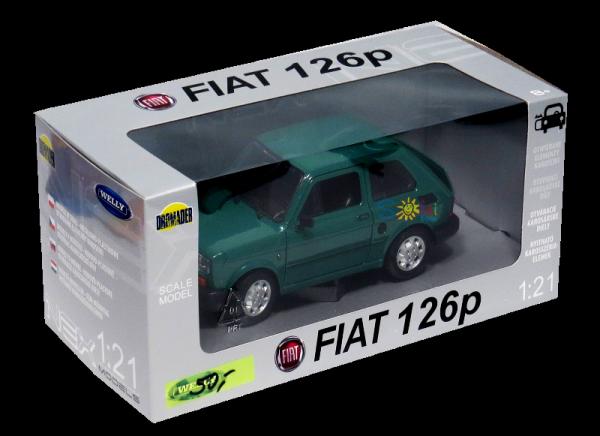FIAT 126p Samochód PRL Duży MALUCH Auto Welly 1:21 Wybór