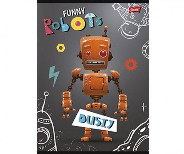 ROBOT Dusty Zeszyt 16 Kartkowy w KRATKĘ Szary