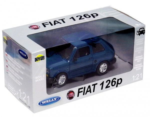 FIAT 126p Samochód PRL Duży MALUCH Auto Welly 1:21
