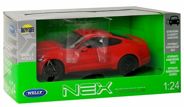 2015 FORD MUSTANG GT Auto METALOWY MODEL Welly 1:24