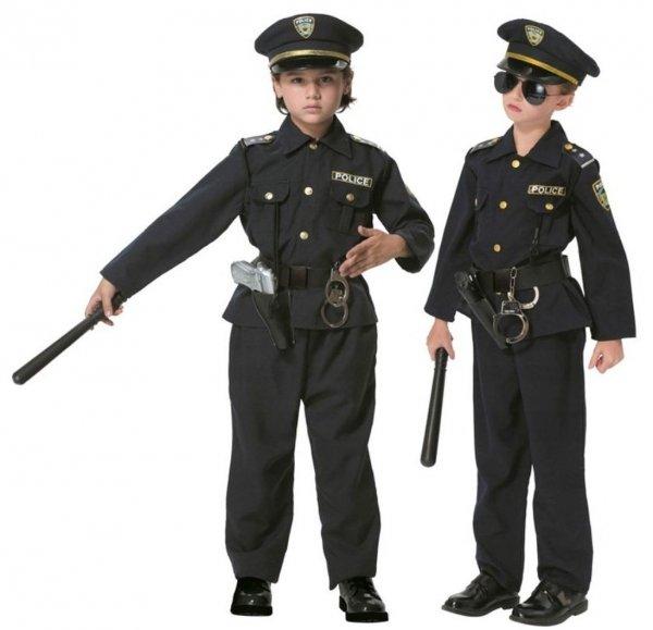 POLICJANT Amerykański USA Strój KARNAWAŁOWY 140 Kinderbal