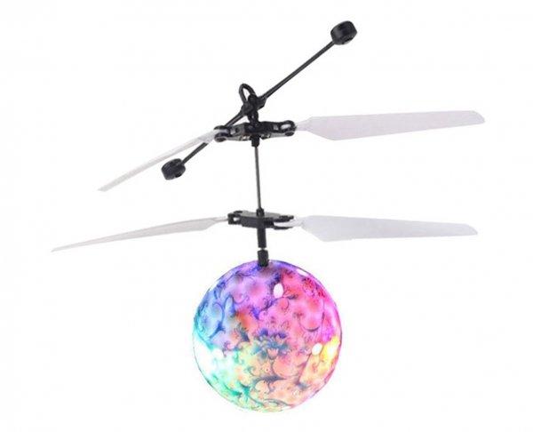 Świecąca LATAJĄCA KULA LED Sterowana RĘKĄ Helikopter