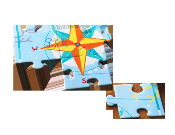 CZUCZU Kieszonkowe Puzzle MAPA ŚWIATA 130 elem.