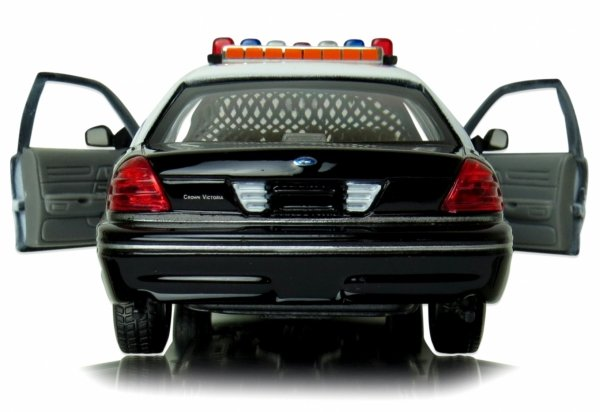 POLICE 1999 FORD CROWN VICTORIA Auto METAL Welly 1:24