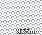 Siatka tuningowa Srebrna 9mm x 5mm 100cm x 30cm