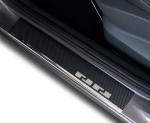 VW GOLF VI KOMBI 2009-2012 Nakładki progowe - stal + folia karbonowa [ 8szt ]