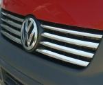 VW T5 2004-2009 Nakładki na grill stal połysk