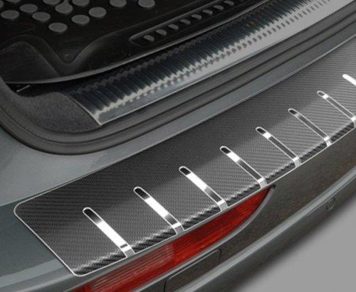 VW PASSAT B7 4D SEDAN od 2010 Nakładka na zderzak z zagięciem (stal + folia karbonowa)
