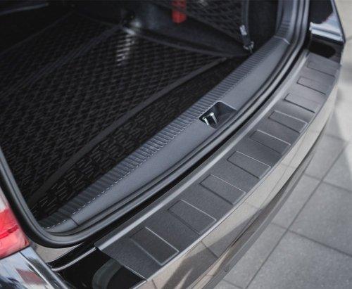 Honda Civic IX Kombi 2013-2016 Nakładka na zderzak TRAPEZ Czarna szczotkowana