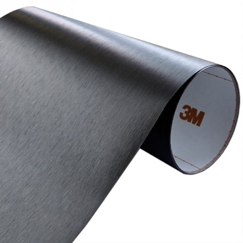 Folia Szczotkowane Aluminium Czarne 3M ME1175 122x80cm