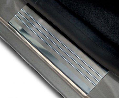 VW POLO IV 3D HATCHBACK 2001-2009 Nakładki progowe - stal + poliuretan [ 2szt ]