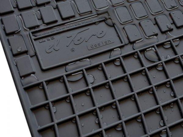 Dywaniki gumowe czarne DAEWOO Lanos T100 T150 1997-2002
