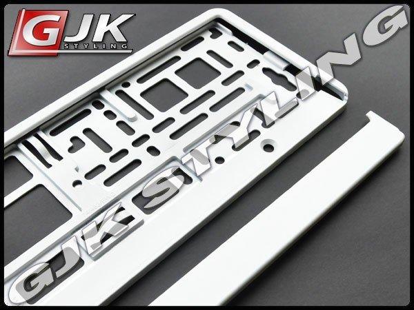 Ramka pod tablice rejestracyjną Metalizowana Biała